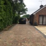 Block paving and patio