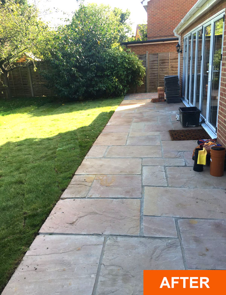 After patio company Purley on Thames