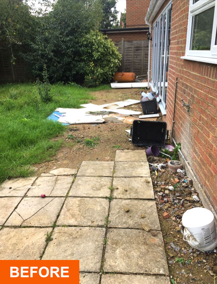 Before patio installers Purley on Thames